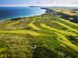 Aerial of Royal Portrush Golf Club on the North Coast of Northern Ireland Photographic Print by Chris Hill