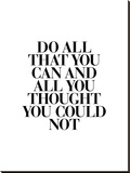 Do All That You Can Stretched Canvas Print by Brett Wilson
