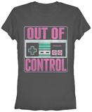 Juniors: Nintendo- Out of Control T-Shirt