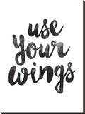 Use Your Wings Stretched Canvas Print by Brett Wilson