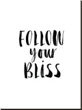 Follow Your Bliss Stretched Canvas Print by Brett Wilson