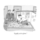 """""""Legally, we're a farm."""" - New Yorker Cartoon Premium Giclee Print by Peter C. Vey"""