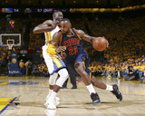 LeBron James Dribbling in Game 2 of the 2015 NBA Finals Photo