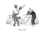 """Wave to him."" - New Yorker Cartoon Premium Giclee Print by Liam Walsh"