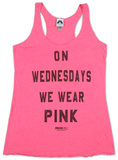 Juniors: Mean Girls- Pink Tank Top T-Shirt