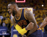 LeBron James 1 Celebrates in Game 2 of the 2015 NBA Finals Photo