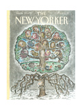 The New Yorker Cover - January 14, 1991 Regular Giclee Print by Edward Koren