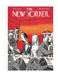 The New Yorker Cover - January 1, 1944 Premium Giclee Print by Peter Arno