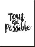 Tout Est Possible Stretched Canvas Print by Brett Wilson
