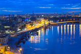 Night Panorama of Kiev Photographic Print by  connect1