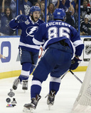 Tyler Johnson & Nikita Kucherov Celebrating a Goal Game 2 of the Stanley Cup Finals Photo