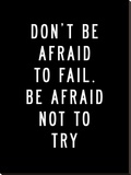 Dont Be Afraid to Fail Stretched Canvas Print by Brett Wilson