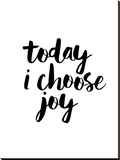 Today I Choose Joy Stretched Canvas Print by Brett Wilson