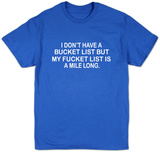 Bucket List Shirts