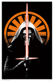 Black Light - Star Wars The Force Awakens - Kylo Ren Prints