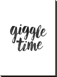 Giggle Time Stretched Canvas Print by Brett Wilson