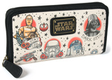 Star Wars Tattoo Flash Zip-Around Wallet Wallet