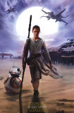 Star Wars The Force Awakens - Rey Prints