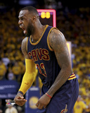 LeBron James 2 Celebrates in Game 2 of the 2015 NBA Finals Photo