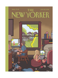 The New Yorker Cover - June 22, 2015 Regular Giclee Print by Chris Ware