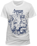 Adventure Time - Group Splat Shirts