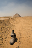 Abandoned Shoes on the Road to the Bent Pyramid Photographic Print by  jgaunion