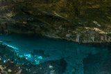 Panorama, Snorkeling Cenote Cavern at Tulum. Cancun. Traveling through Mexico. Photographic Print by  diegocardini