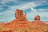 Monument Valley at Sunset, Utah, USA Photographic Print by  lucky-photographer