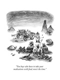 """""""You boys who have to take your medications with food, now's the time."""" - New Yorker Cartoon Premium Giclee Print by Frank Cotham"""