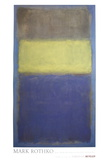 No. 2/No. 30  (Yellow Center) Posters por Mark Rothko