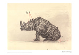 Drawing for the Magic Flute (Tamino's Rhinoceros) Print by William Kentridge