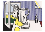 Still Life with Windmill Affischer av Roy Lichtenstein