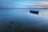 Old Abandoned Boat on the Sea in the Background of A Sea Landscape. Photographic Print by  sergoua