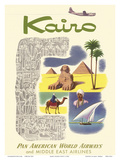 Kairo (Cairo) Egypt - via Beirut with Clipper Planes - Cheops Pyramid Posters