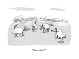 """Now what?"" - New Yorker Cartoon Premium Giclee Print by Mitra Farmand"