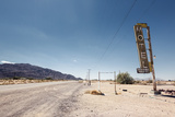 Hotel Sign Ruin along Historic Route 66 Photographic Print by Andrew Bayda