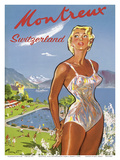 Montreux, Suiza (Switzerland) - Lake Geneva Poster by Pierre L. Brenot