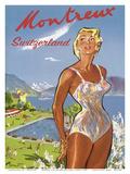 Montreux, Suiza (Switzerland) - Lake Geneva Prints by Pierre L. Brenot