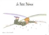 Le Petit Prince reveur Poster von Antoine de Saint Exupery