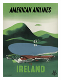 Ireland - Ross Castle, Killarney National Park - American Airlines Impression giclée par Edward Mcknight-Kauffer