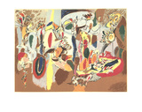 The Liver is the Cock's Comb Serigraph by Arshile Gorky