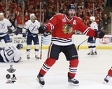 Duncan Keith Goal Celebration Game 6 of the 2015 Stanley Cup Finals Photo