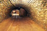 Mine Gold Underground Tunnel Railroad Photographic Print by  TTstudio