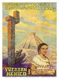 Chichen Itza - Yucatan, Mexico - El Castillo Mayan Pyramid Poster di Flores Esp
