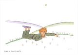 Le Petit Prince reveur Serigraph by Antoine de Saint Exupery
