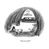 """Invent a job!"" - New Yorker Cartoon Premium Giclee Print by Frank Cotham"