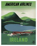 Ireland - Ross Castle, Killarney National Park - American Airlines Giclee Print by Edward Mcknight-Kauffer