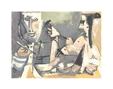 Der Kuenstler und Sein Modell Siebdruck von Pablo Picasso