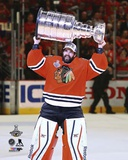 Corey Crawford Celebrating with the Stanley Cup  2015 Photo