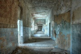 Corridor in an Abandoned Hospital in Beelitz Photographic Print by Stefan Schierle